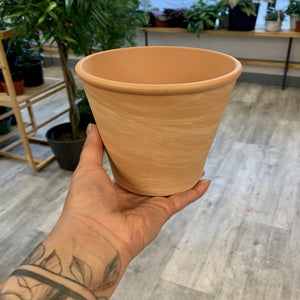 "Marbled Terra cotta pot (5""x5"")"