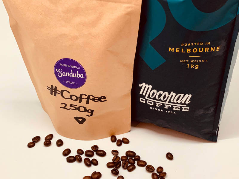 Mocopan Coffee Whole or Ground Bean Bag (Rainforest & Fair Trade) 250g