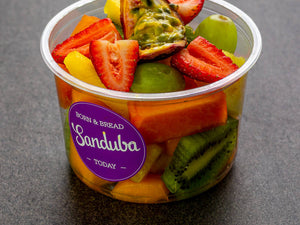 Freshly Cut Seasonal Fruit / Vegetable & Hummus Tubs