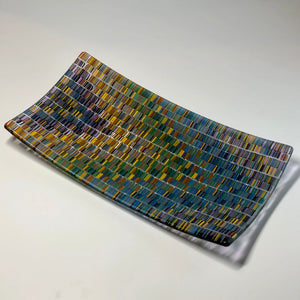 Tapestry Blue Arrow Platter