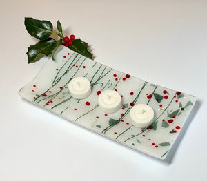 Holly Berry Rectangle Platter
