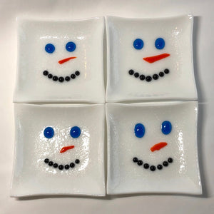 Load image into Gallery viewer, Snowmen Trinket Dishes