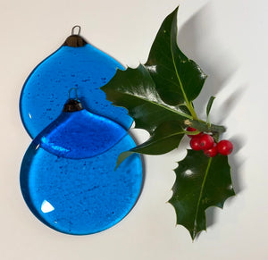 Turquoise Christmas Ornament