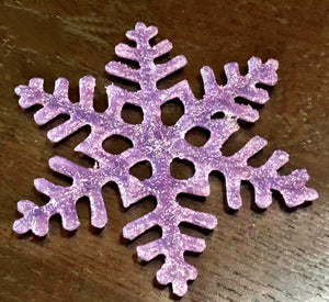 Load image into Gallery viewer, Lavender Snowflake Ornament/Suncatcher