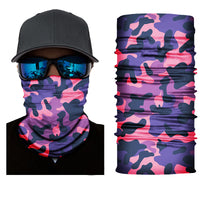 Pink Military Camo Face Shield