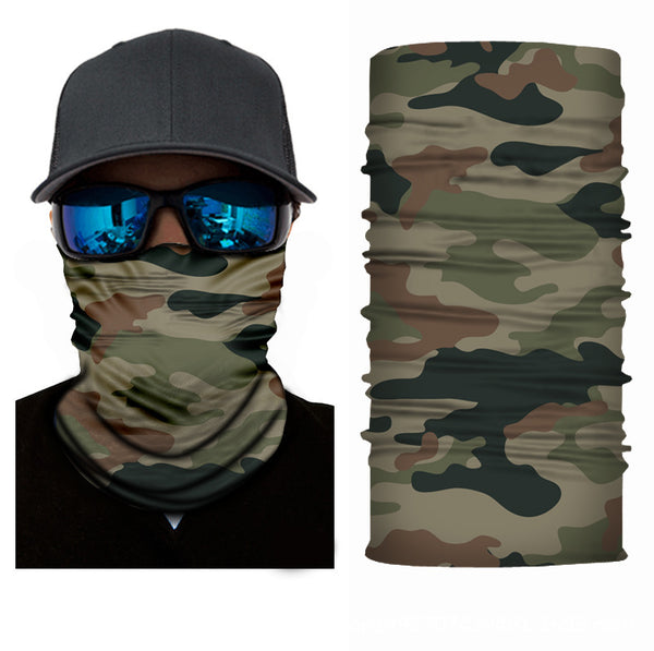 Military Camo Bandanna Face Shield