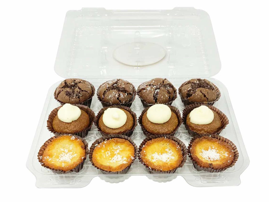 Torte Mini Bite 12-Pack - Lemon Coconut, Pumpkin, Pure Chocolate