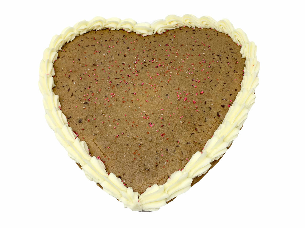 "Chocolate Chip Cookie Heart 12"" (Pick-up only)"