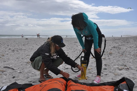 Setting up a Kitesurfing kite