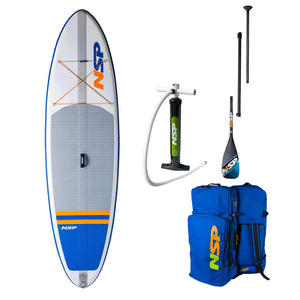 NSP 10'6 O2 SR Inflatable Allrounder SUP Package Carbon - Oceansource