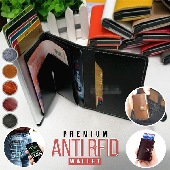 ALFO™: RFID Blocking Wallet Business Card Holder
