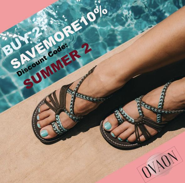 Ovaon™: Palm Leaf Flat Sandals (BUY2+ SAVE MORE 10%)