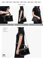 Load image into Gallery viewer, STEPHIECATHY Square Patent Faux Leather Handbag - Vegan Bag Faux Leather