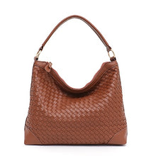 Load image into Gallery viewer, STEPHIECATHY Woven Hobo Shoulder bag - Vegan Bag Faux Leather