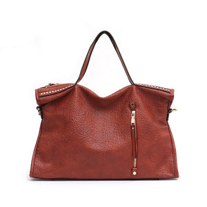 CEZIRA Large Vintage Shoulder Bag Handbag - Vegan Bag Faux Leather