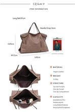 Load image into Gallery viewer, CEZIRA Large Vintage Shoulder Bag Handbag - Vegan Bag Faux Leather