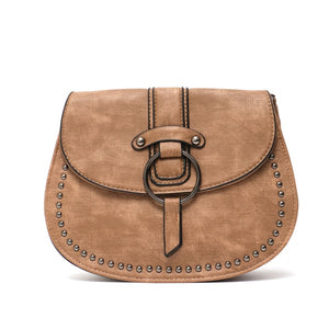 CEZIRA Small Saddle Crossbody Bag - Vegan Bag Faux Leather