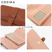 Load image into Gallery viewer, CEZIRA Buckle Clutch Wallet - Vegan Bag Faux Leather