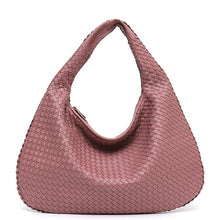 Load image into Gallery viewer, STEPHIECATHY Handmade Woven Hobo Shoulder Bag - Vegan Bag Faux Leather