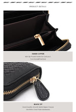 Load image into Gallery viewer, STEPHIECATHY Woven Long Clutch Wallet - Vegan Bag Faux Leather