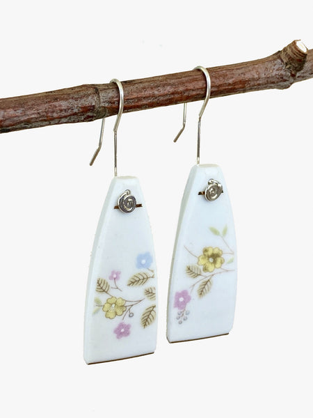 Little Yellow Flower Ceramic Earrings
