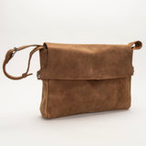 2482 Messenger Bag with Leather Lining - Bison Leather