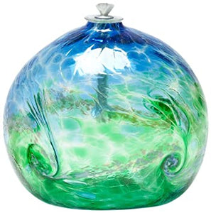 Van Glow Oil Lamp Blue/Green 3in