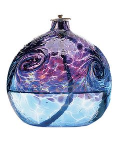 Van Glow Oil Lamp Purple/Blue 6in