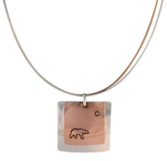 Winterchild, Sunset Square Necklace