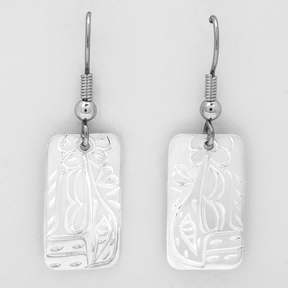 Hummingbird Earrings -Small Rectangle Shape