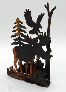 Rusted Wildlife Scene - Moose