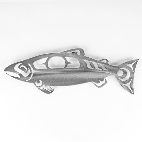 First Nations Salmon - Silver Steel