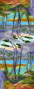 Yukon Art Scarf - Resilient Spruce at Deep Lake
