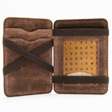 253 Unisex Bill Fold Wallet - Bison Leather