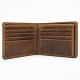 214 Bill Fold Wallet - Bison Leather