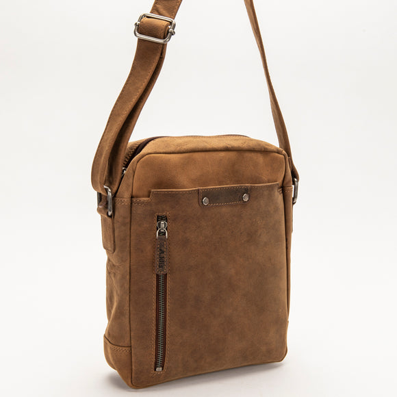 2847 Travel Messenger Bag - Bison Leather