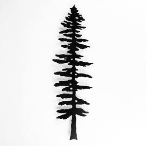 Sitka Tree Wall Medium - Black Steel