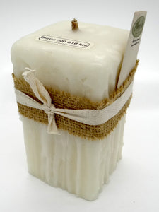 Square Dripped Ivory Candle