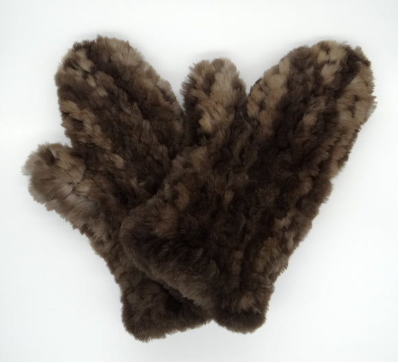 Beaver Fur Mitts - Natural