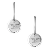 Winterchild, Silver Circle Earrings