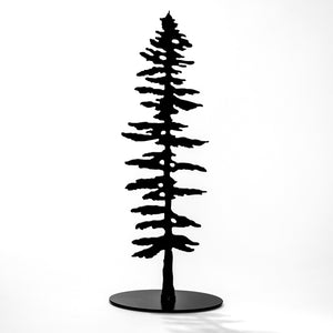 Spruce Tree Sm Standing - Black Steel