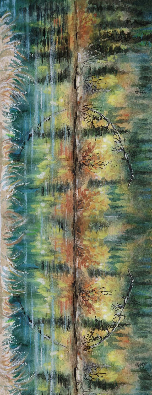 Yukon Art Scarf - Yukon Pond Reflections