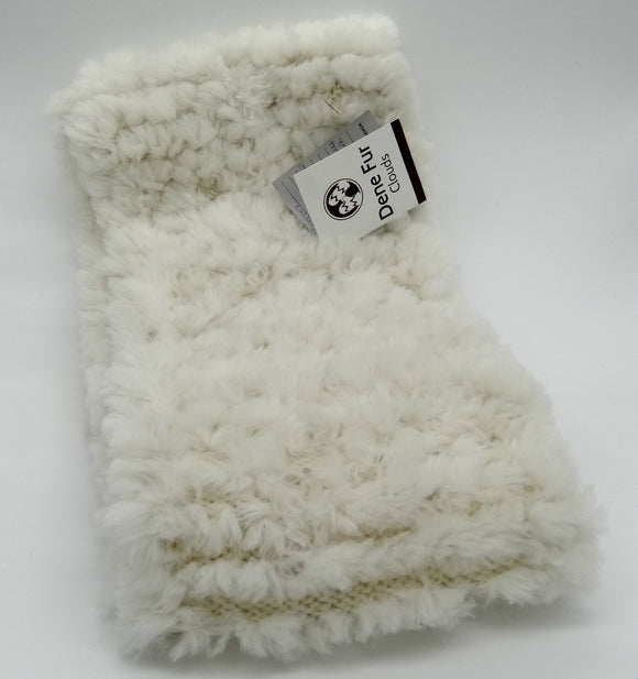 Beaver Fur Scarf Medium-Ivory