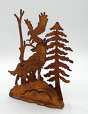 Rusted Wildlife Scene - Wolf