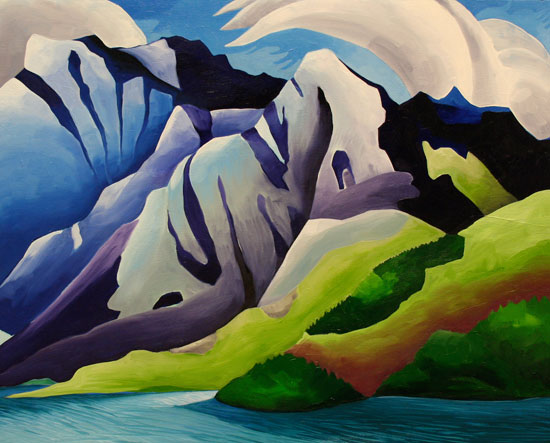Kluane Lake & Mountain Print 12x15