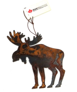 Rusted Metal Moose Ornament