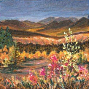 Golden Grasses & Yukon Fireweed Print