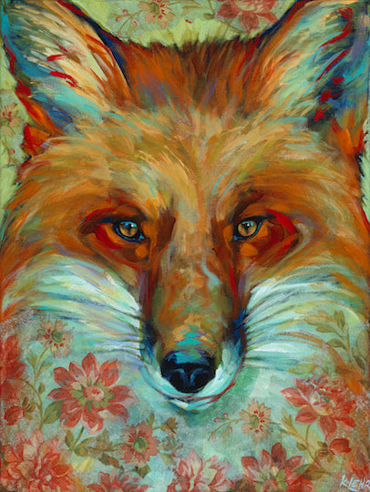 Fox In Flowers Large