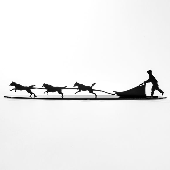 Dog Sled- Metal - Black Steel