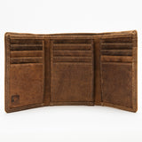 225 Trifold Wallet - Bison Leather